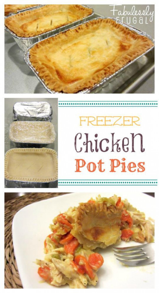 Freezer Meal Recipes: Chicken Pot Pies | Recipe | Freezer ...