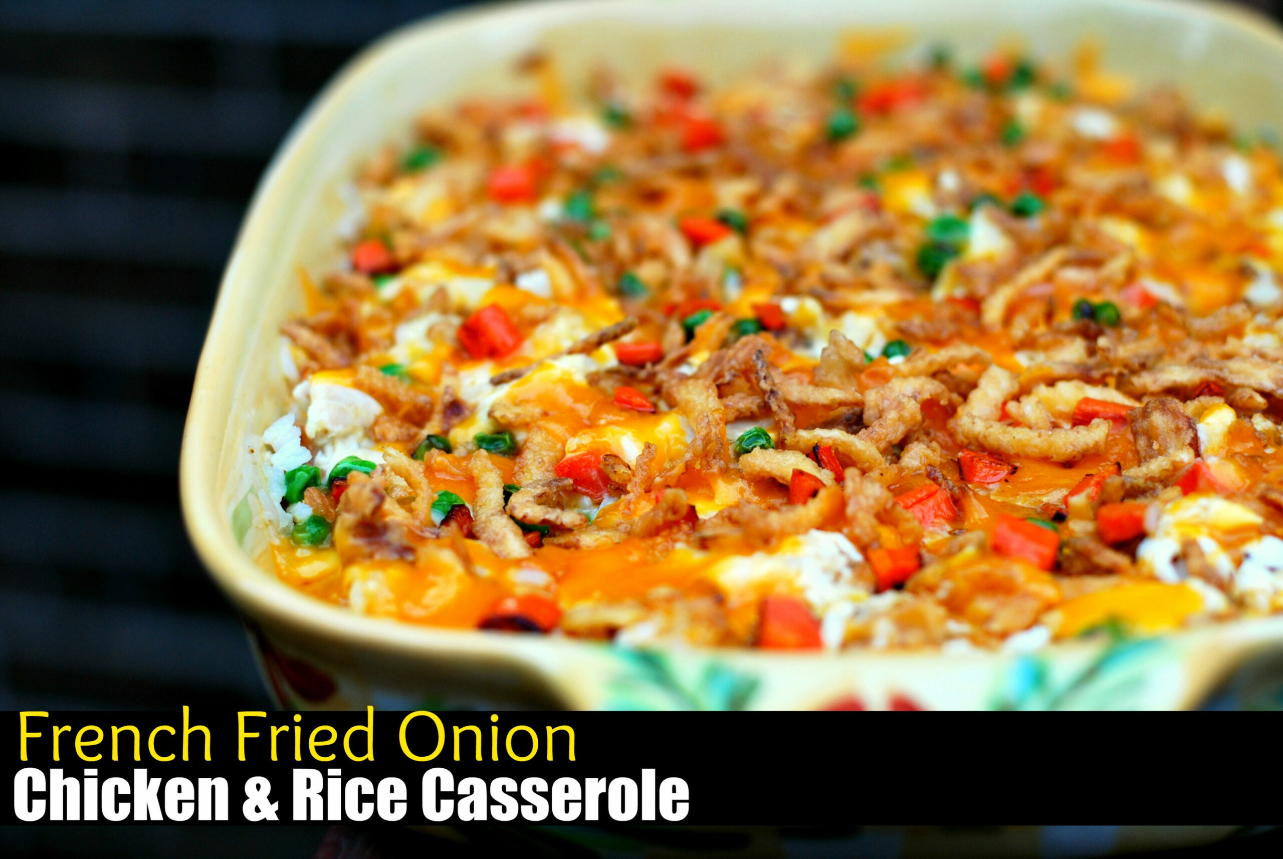 French Fried Onion Chicken & Rice Casserole - Aunt Bee's ..