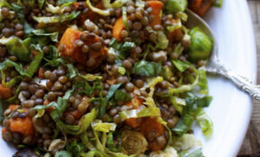 French Lentil & Vegetable Salad | Salad Recipes | Vegan ...