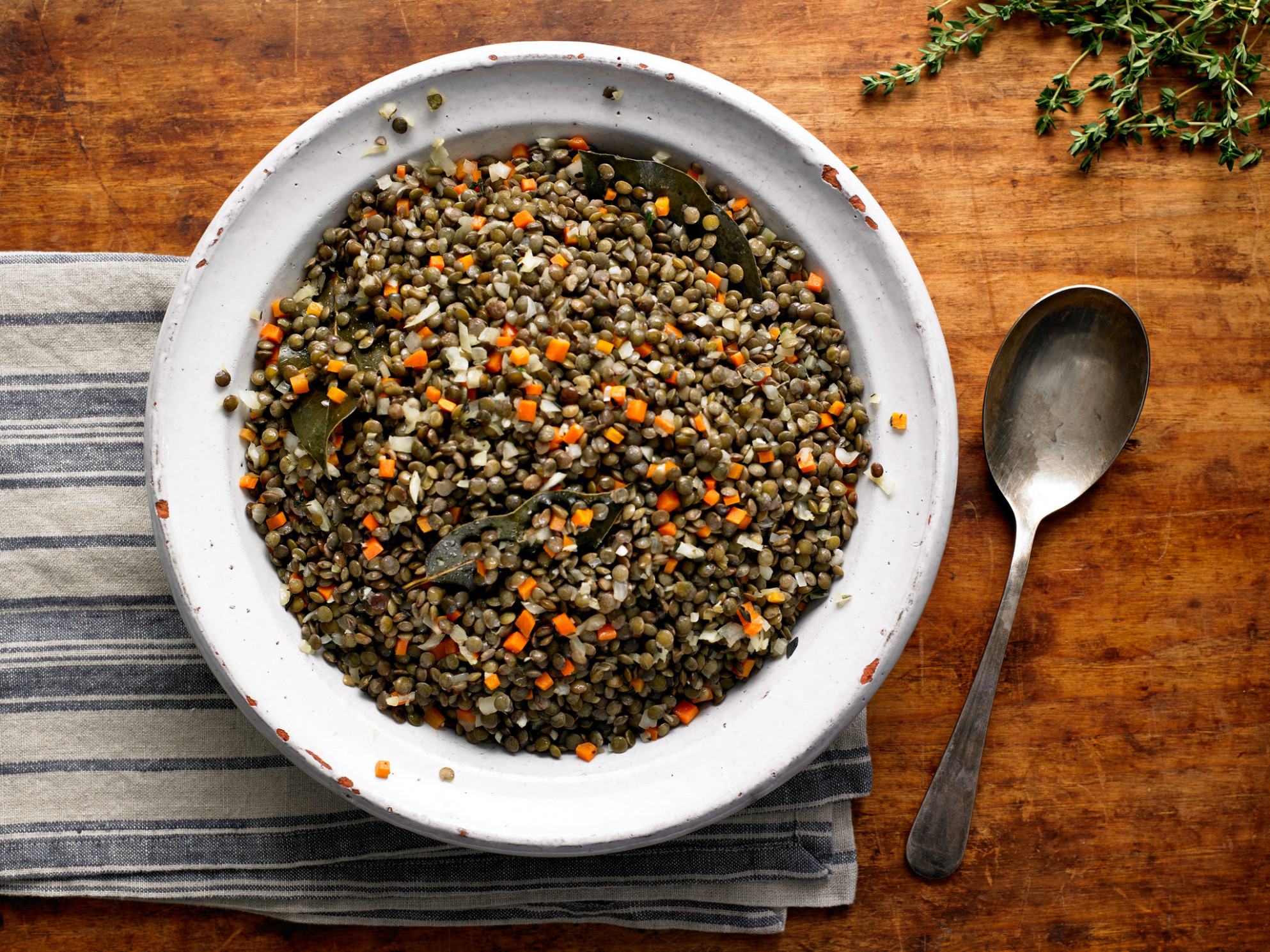 French Lentils With Garlic and Thyme Recipe - NYT Cooking - recipes puy lentils vegetarian