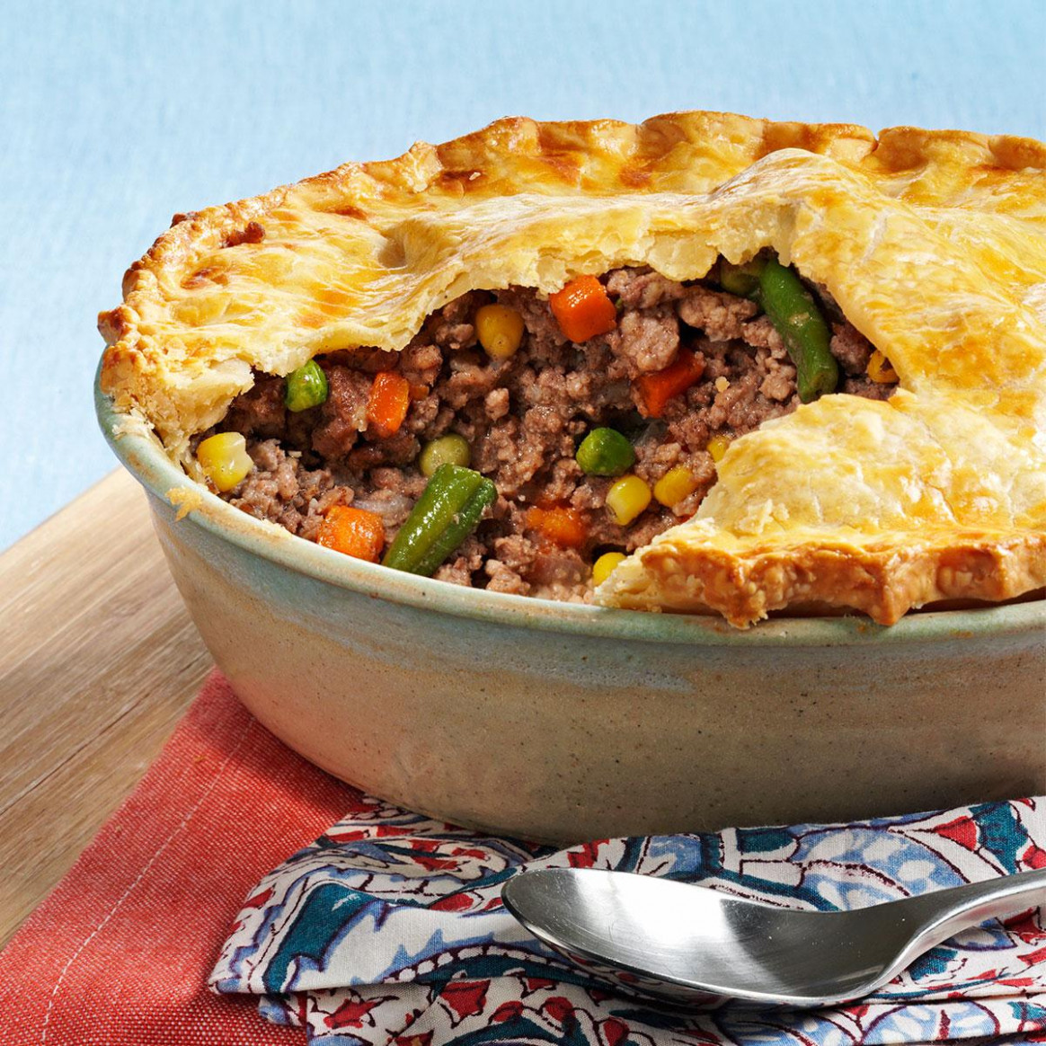 French Meat and Vegetable Pie Recipe | Taste of Home - recipes vegetarian pies