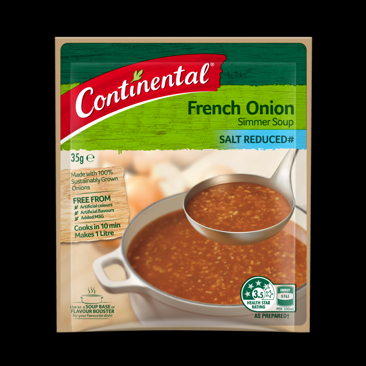 French Onion | Simmer Soup | Continental - Recipe Vegetarian French Onion Soup