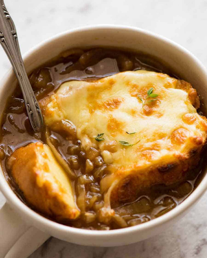 French Onion Soup - recipe vegetarian french onion soup