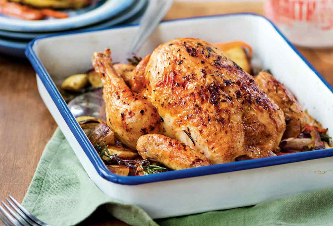 French Roast Chicken | Poulet Rôti - French Recipes Chicken