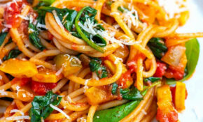 Fresh And Easy Veggie Spaghetti – Pasta Recipes Vegetarian