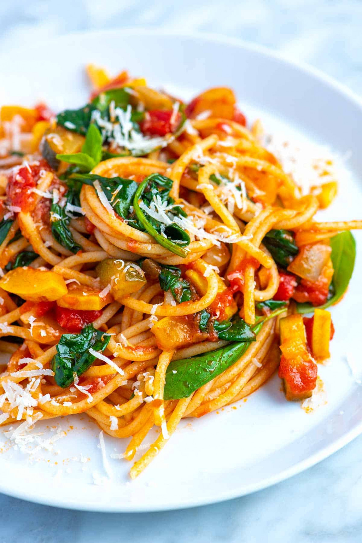 Fresh And Easy Veggie Spaghetti - Pasta Recipes Vegetarian