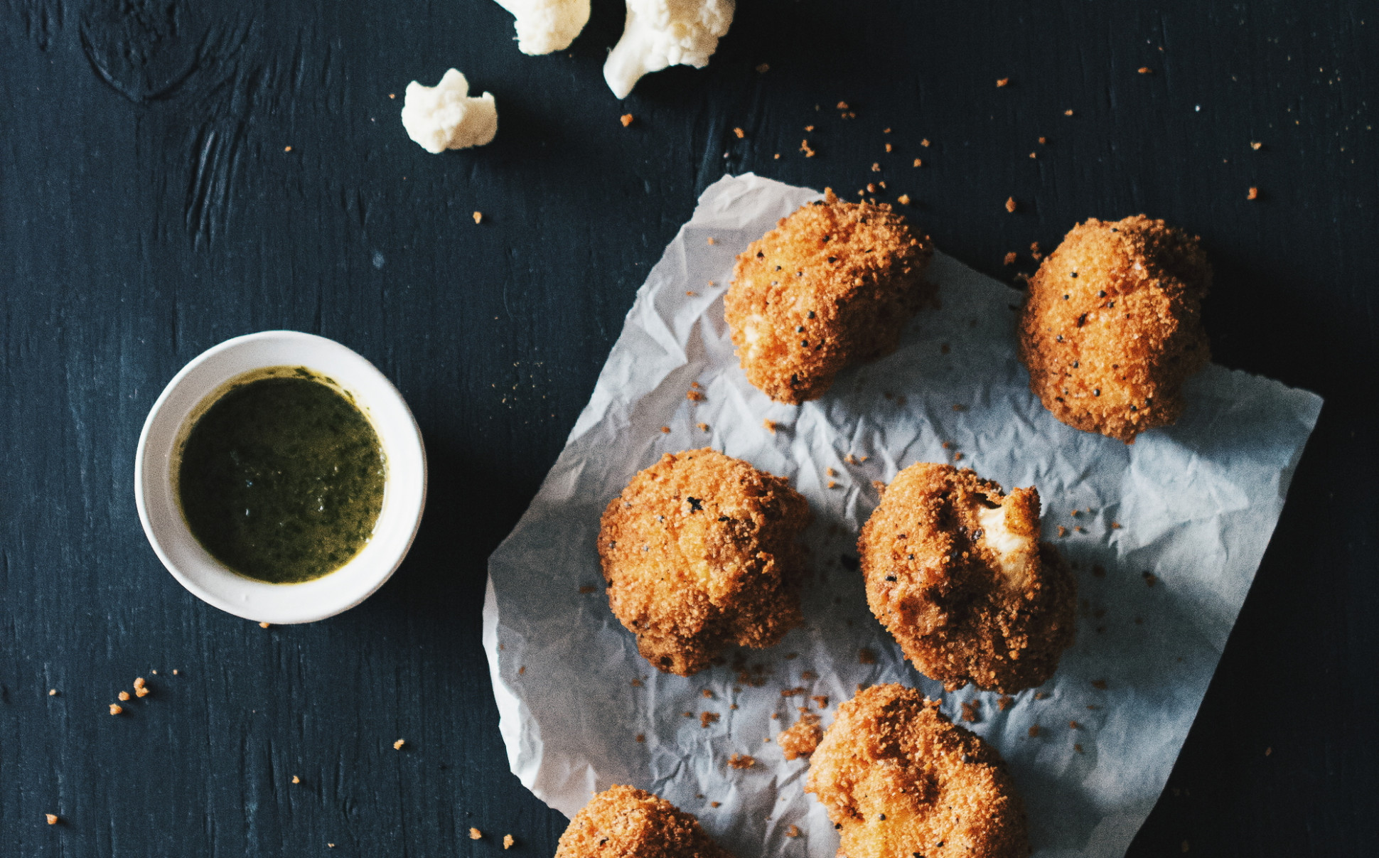 Fried Cauliflower with Mint + Tamarind Dipping Sauce - The ..