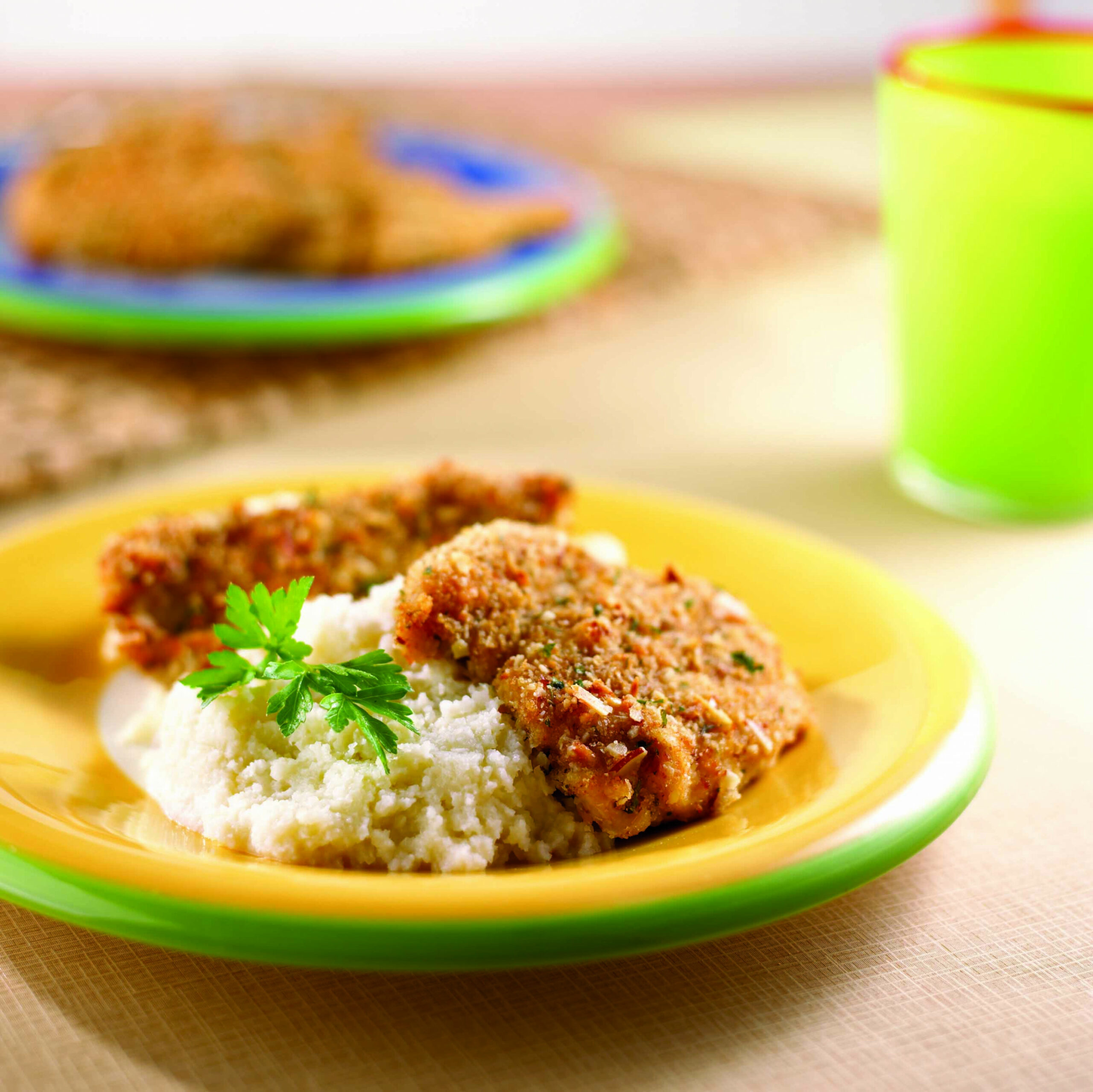 Fried Chicken with Almonds - South Beach Diet Healthy Recipes - recipes to eat healthy