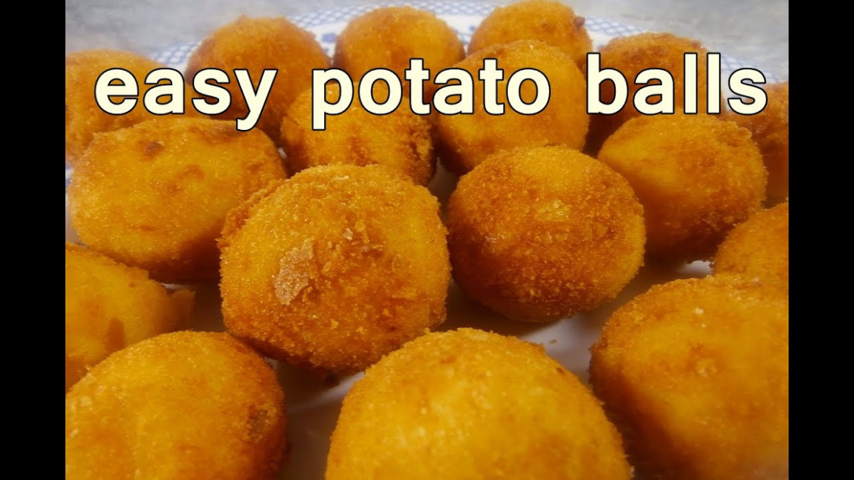 FRIED POTATO BALLS - Tasty And Easy Food Recipes For Dinner To Make At Home  - Cooking Videos - Recipes Of Food