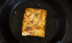 Fried Tofu Strips (03): Pan Frying – Recipes Vegetarian Garlic