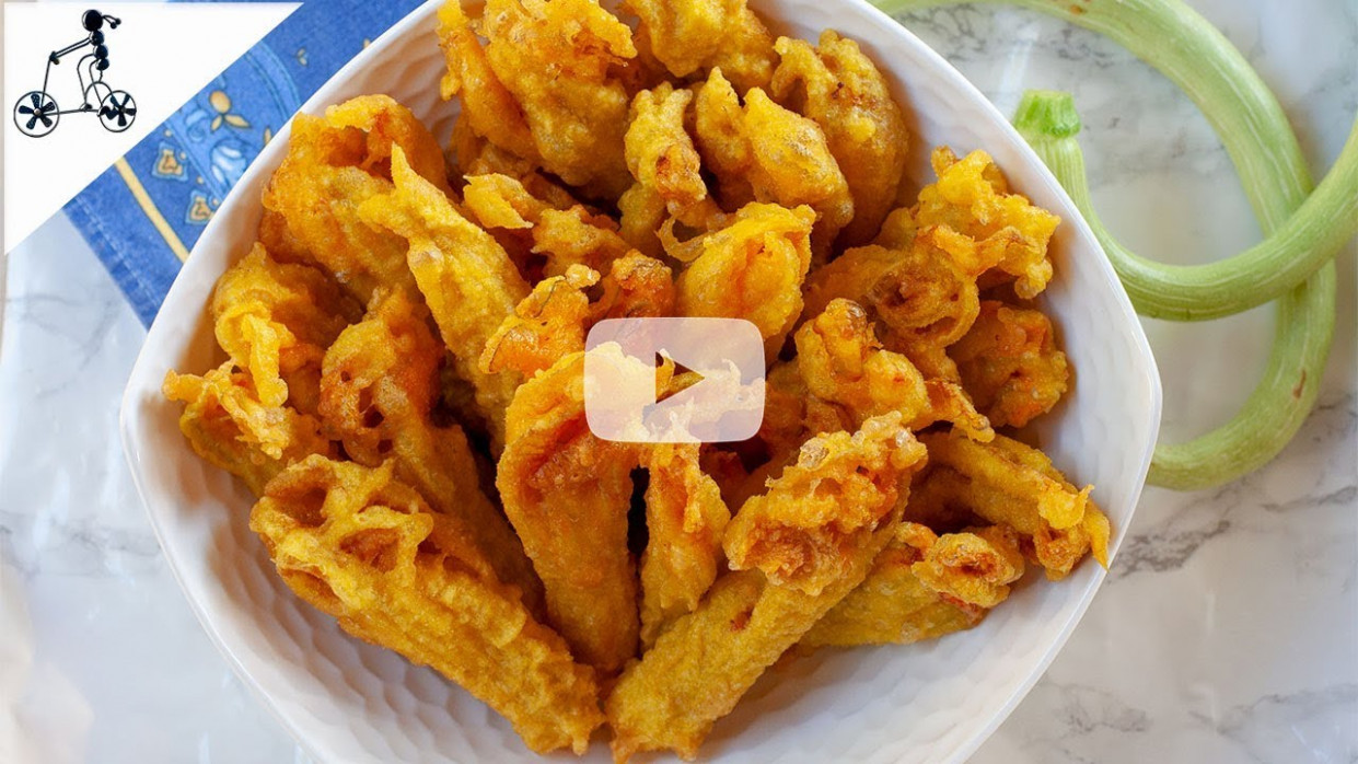 Fried Zucchini Flowers with Saffron Batter - Your Guardian Chef - zucchini flower recipes healthy