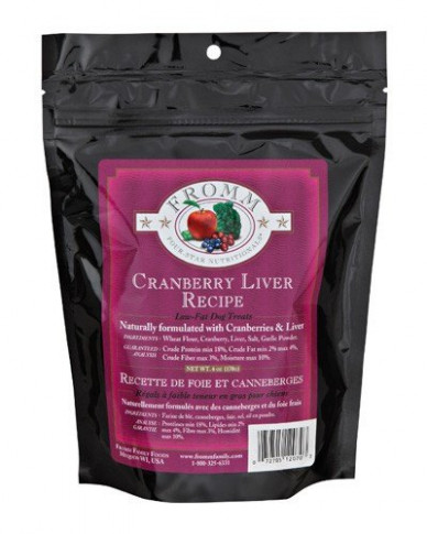 Fromm Family Foods Four Star Cranberry Liver Dog Treats - low fat dog food recipes