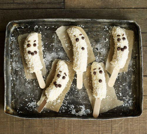 Frozen banana ghosts recipe | BBC Good Food - winter recipes dinner