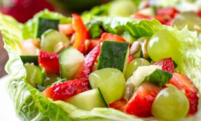 Fruit And Vegetable Salad   Dizzy Busy And Hungry! – Lettuce Salad Recipes Vegetarian