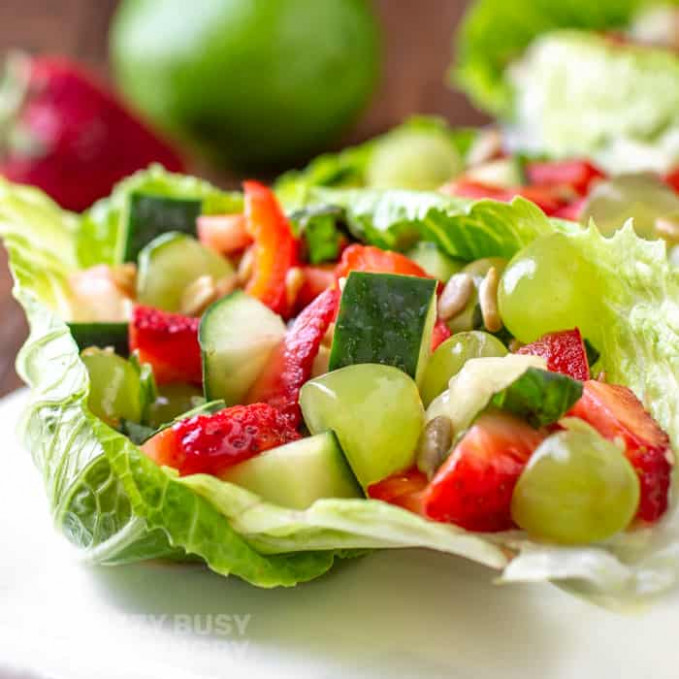 Fruit and Vegetable Salad | Dizzy Busy and Hungry! - lettuce salad recipes vegetarian