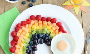 Fruit Rainbow With A Pot Of Gold (Fun Breakfast Idea For Kids!) – Recipes For Healthy Breakfast