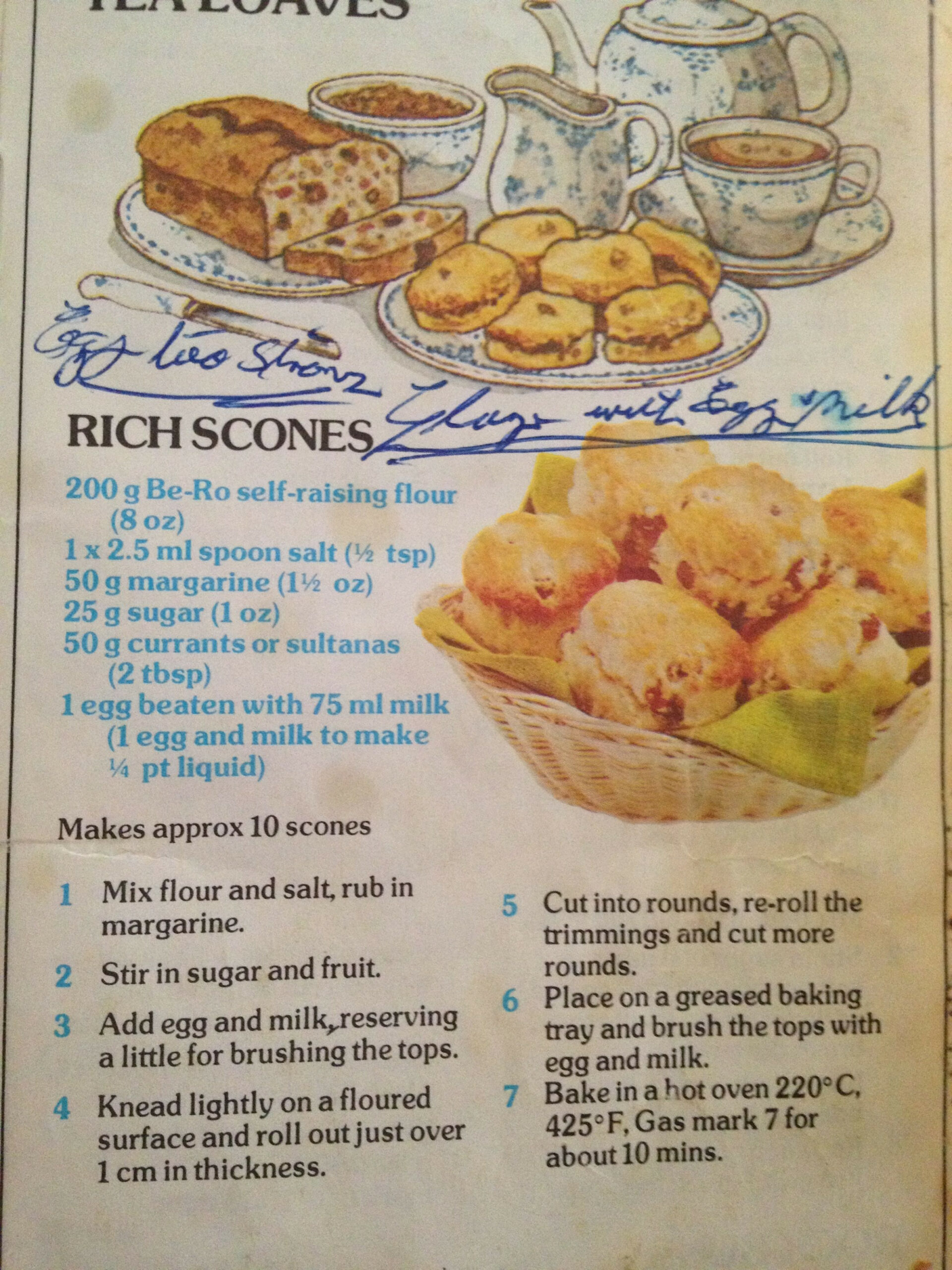 Fruit Scones Be Ro | Food In 2019 | Vintage Recipes, Welsh ..
