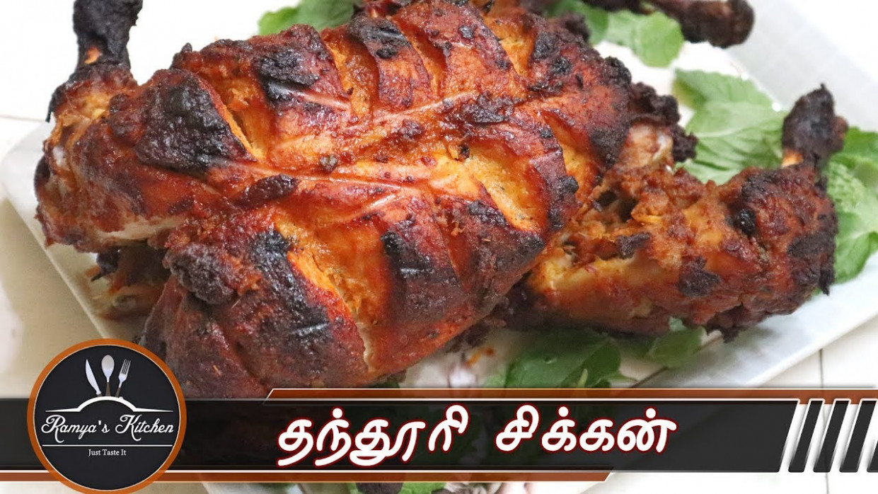 Full chicken tandoori in tamil | Tandoori chicken in tamil | Tandoori  chicken in oven - chicken recipes youtube in tamil