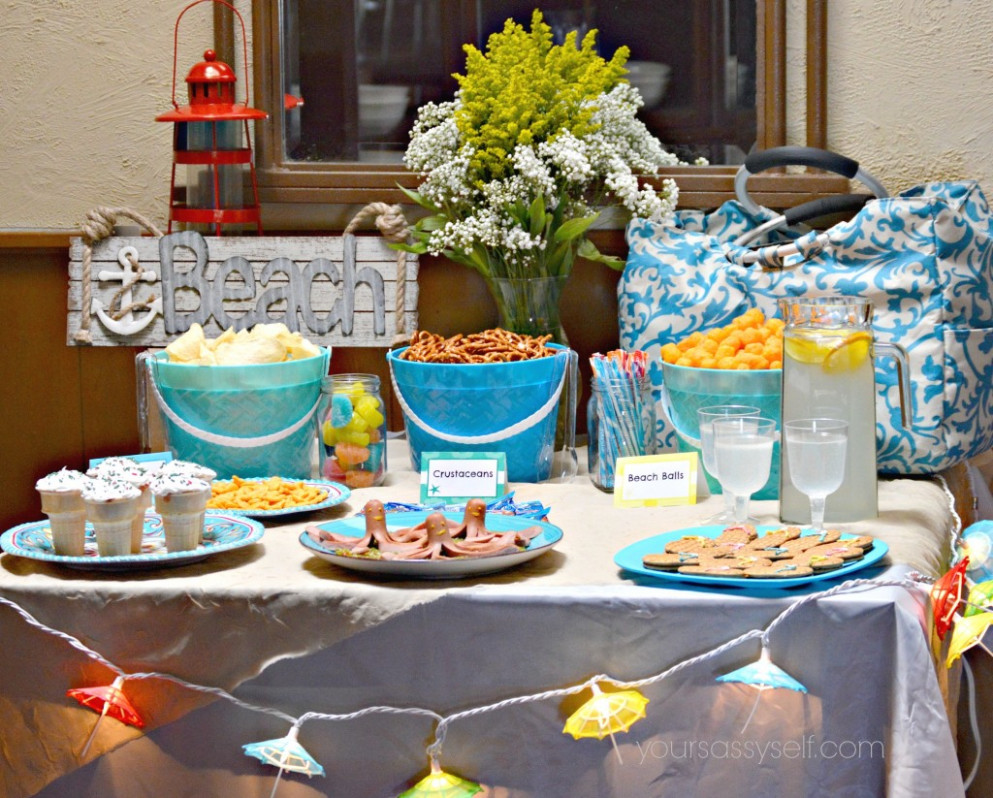 Fun Birthday Beach Party Ideas For Any Age - Your Sassy Self - ocean themed food recipes
