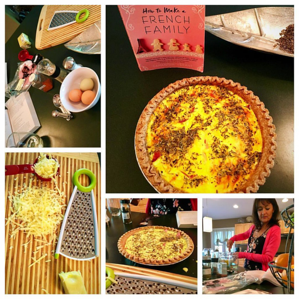 Fun night at book club.. making dinner together from a french recipe from book ??.. it was divine    . . .