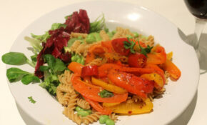 Fusilli With Peppers And Broad Beans – Vegetarian Recipes Dinner Healthy