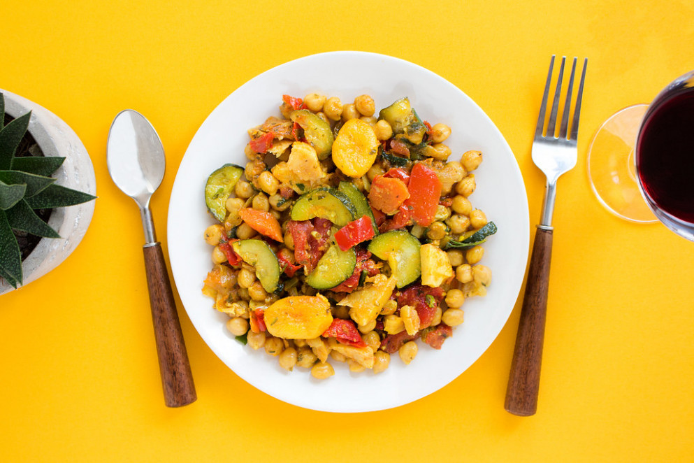Garbanzo Beans + Veggies - healthy recipes dinner