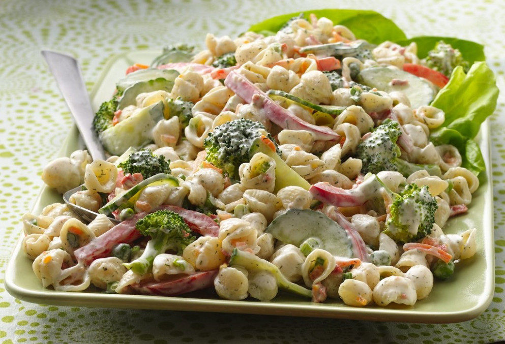Garden Ranch Pasta Salad Recipe - food recipes bacon