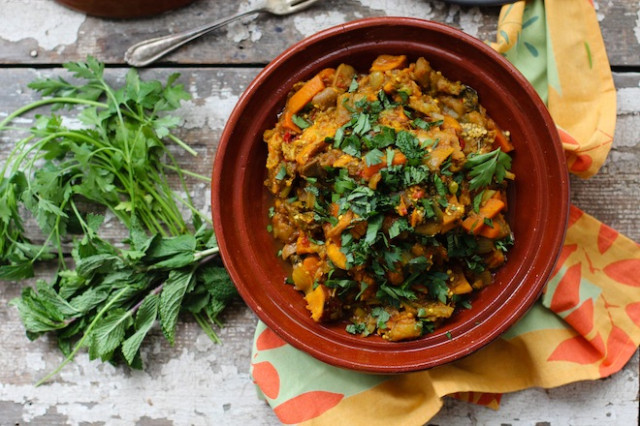 Garden Vegetable Tagine - recipes vegetarian tagine