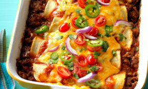 Garlic Beef Enchiladas Recipe | Taste of Home