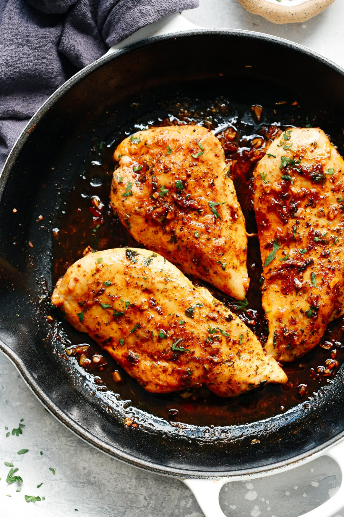 Garlic Butter Baked Chicken Breast - Recipes Bone In Chicken Breast