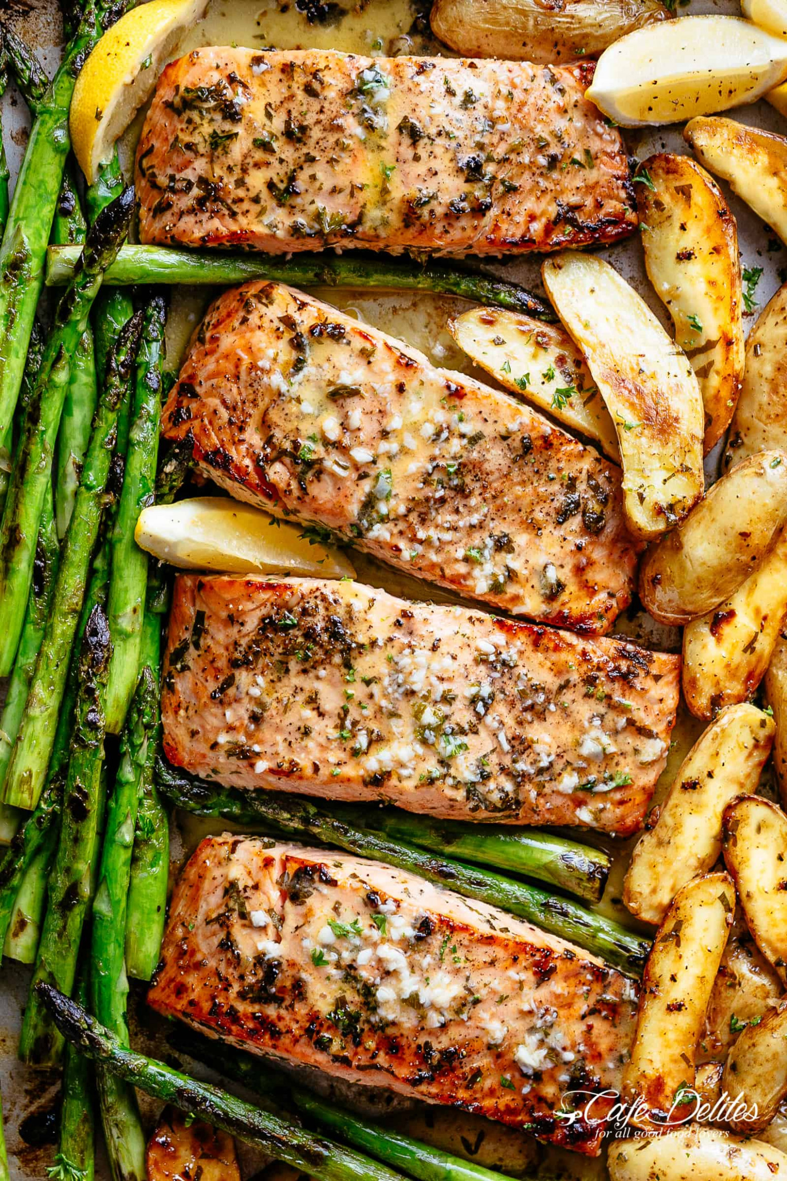 Garlic Butter Baked Salmon - dinner recipes delicious
