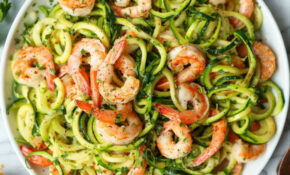 Garlic Butter Shrimp Zucchini Noodles – Dinner Recipes With Zucchini Noodles