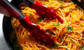 Garlic Butter Sweet Potato Noodles Recipe — Eatwell101 – Recipes Sweet Potatoes Healthy