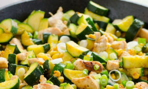 Garlic Chicken, Zucchini And Corn – IFOODreal – Healthy ..