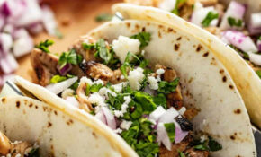 Garlic Lime Grilled Chicken Tacos