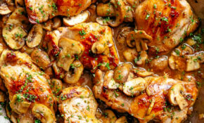 Garlic Mushroom Chicken Thighs – Chicken Recipes Chicken Recipes