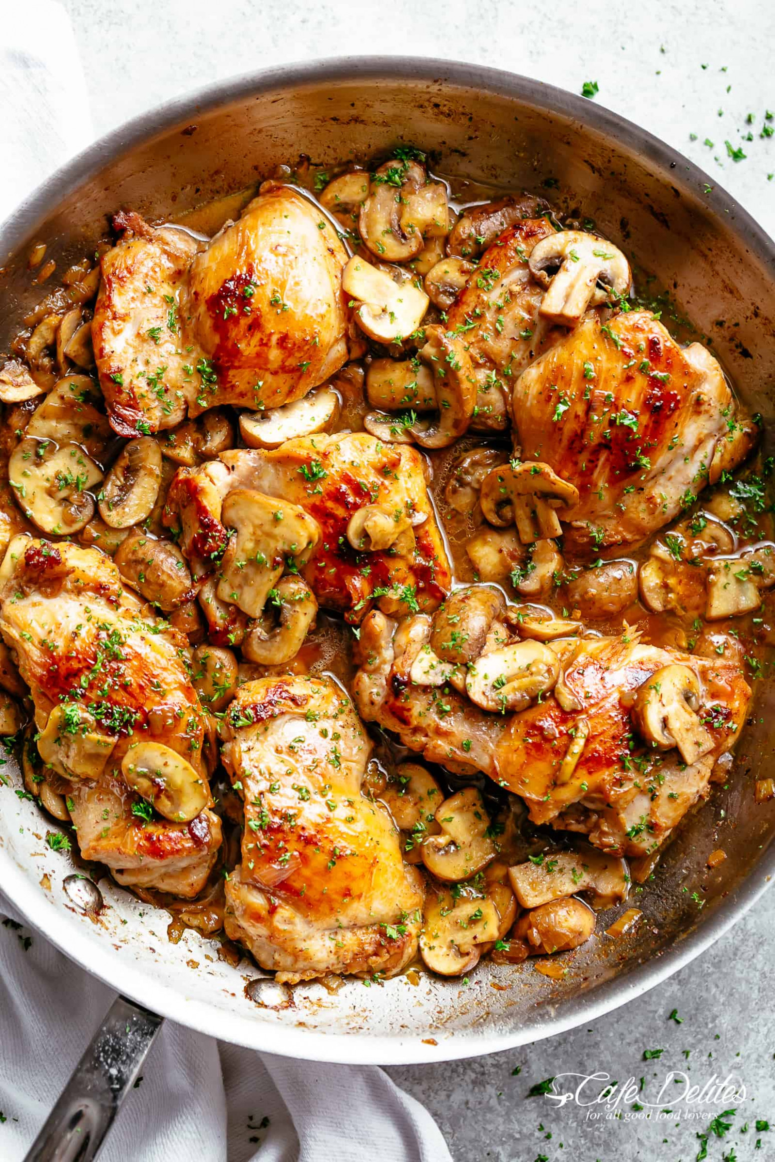 Garlic Mushroom Chicken Thighs - chicken recipes chicken recipes