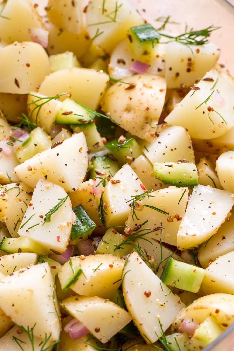 GERMAN POTATO SALAD WITH DILL - THE SIMPLE VEGANISTA - recipe vegetarian german potato salad