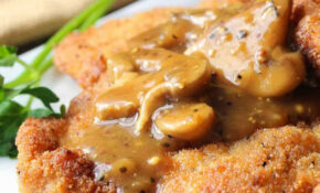 German Schnitzel With Mushroom Gravy – Food Recipes Using Jagermeister