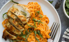 GF Pasta With Chicken And Roasted Red Pepper Sauce | Easy ..