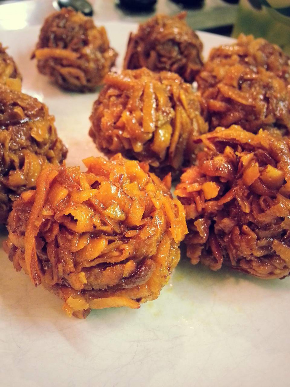 Ghanaian Caramel Coconut Balls - food recipes ghana