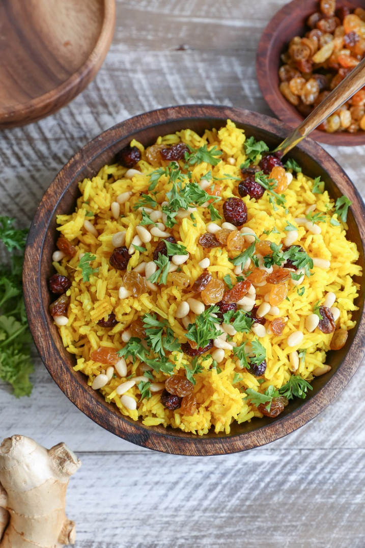 Ginger and Turmeric Aromatic Rice - fresh turmeric recipes vegetarian