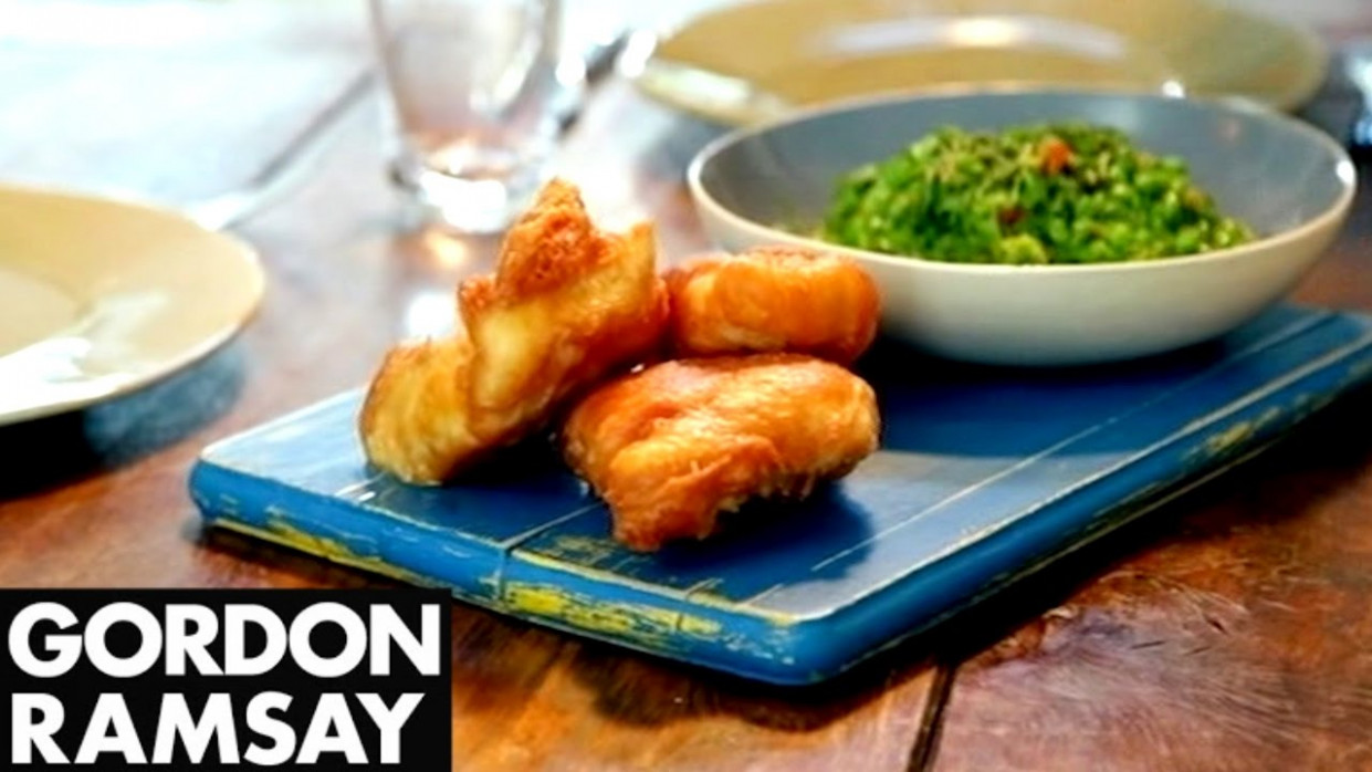 Ginger Beer Battered Fish with Chilli Minted Mushy Peas | Gordon Ramsay - food recipes using ginger beer