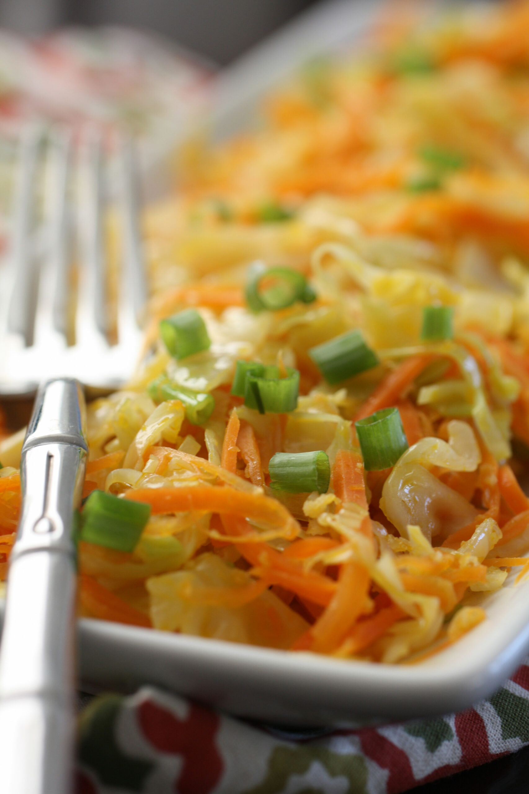 Ginger Fried Cabbage and Carrots (AIP, Paleo, Vegan) - cabbage recipes vegetarian