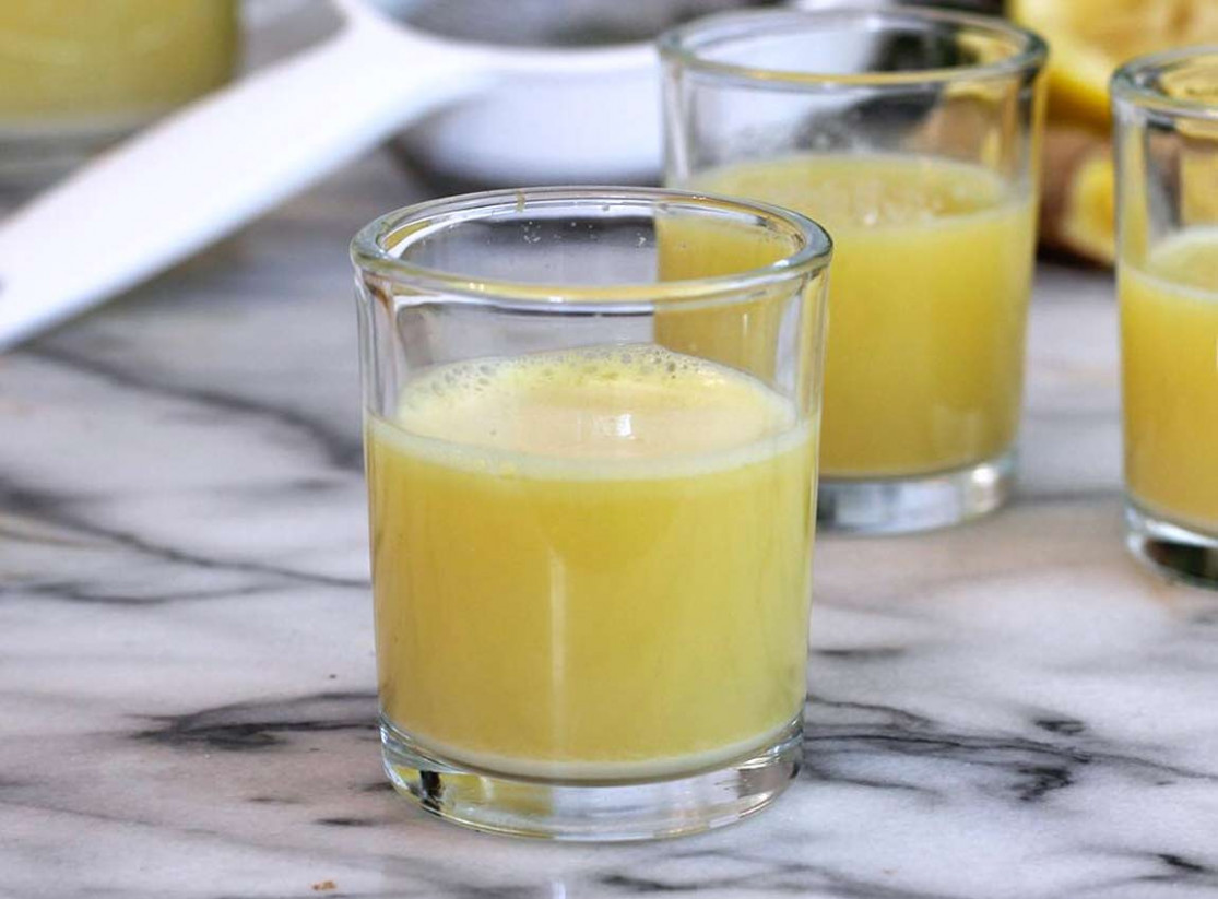 Ginger-Lemon Shots Blender Recipe - Sometimes there IS a quick fix! - recipes blender healthy drinks