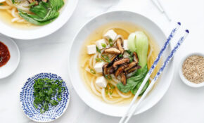 Ginger Miso Udon Noodle Soup With Roasted Mushrooms – Recipe Vegetarian Udon Noodle Soup