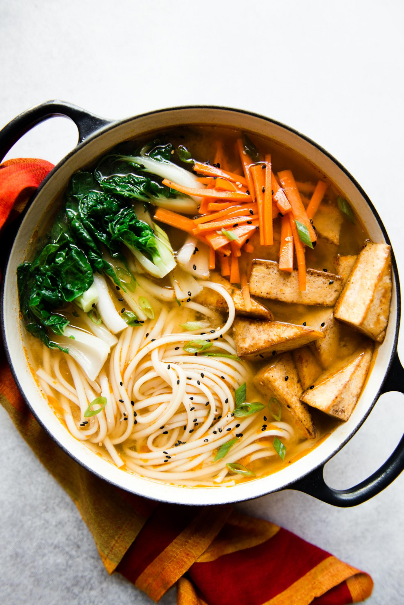 Ginger Miso Udon Noodles with Five-Spice Tofu (Vegan ..