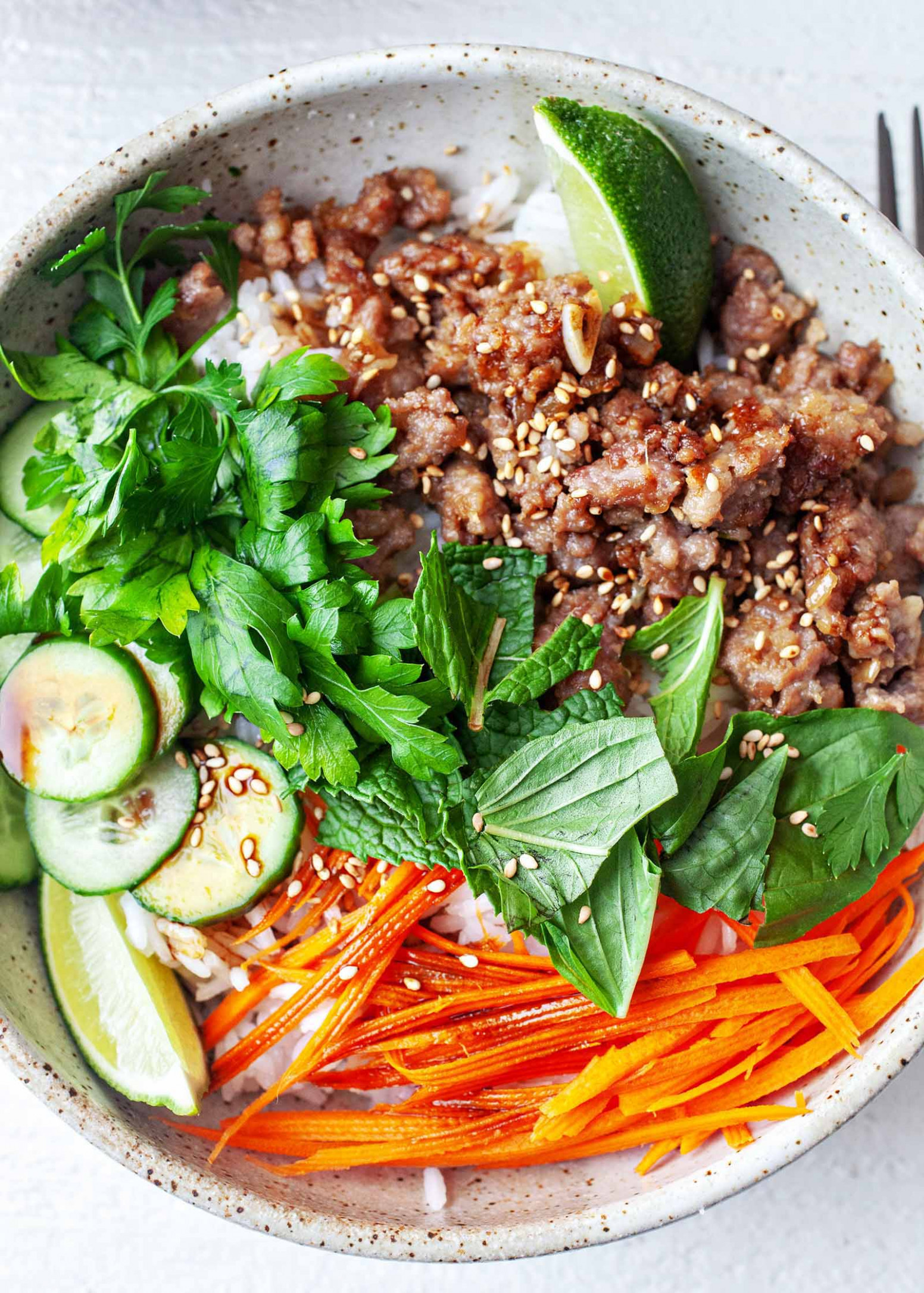 Ginger Pork Rice Bowls - vegetarian rice bowl recipes
