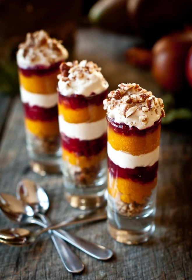 Ginger Pumpkin Cranberry Parfait Shot – Healthy Christmas ..