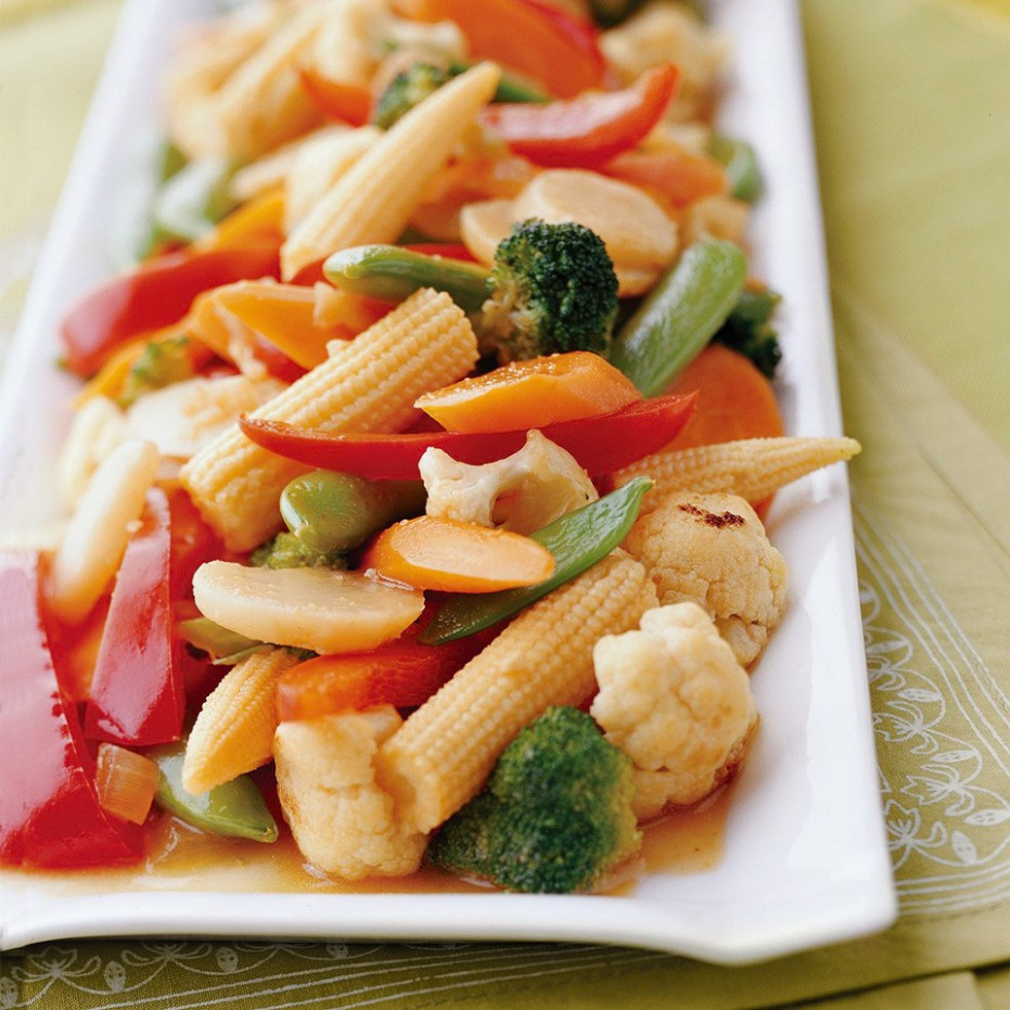 Ginger Vegetable Stir Fry Recipe - EatingWell - Ginger Recipes Vegetarian